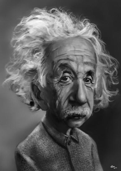 کاریکاتوری جالب از  آلبرت اینشتین