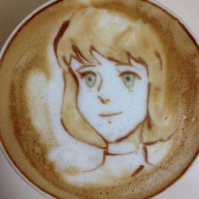 تصاویری از هنــرنمایی با شیــر و قهوه