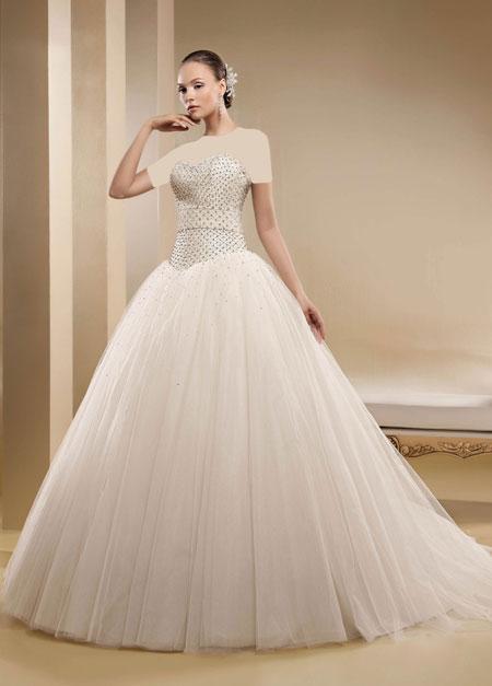 mo9678 مدل های زیبای لباس عروس پرنسسی برند ایتالیایی Nicole