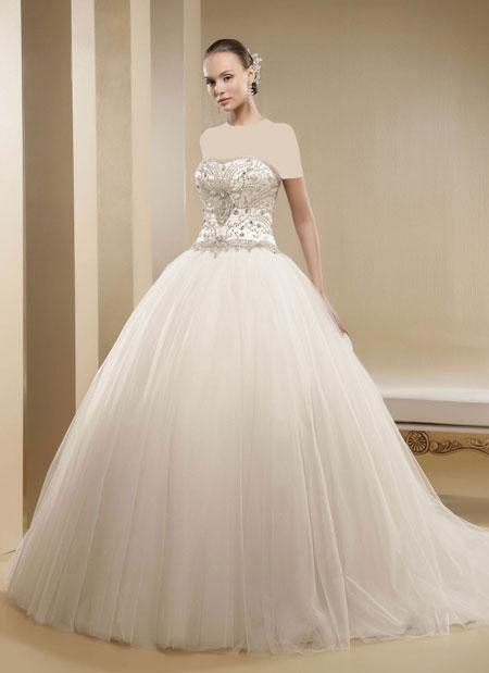 mo9681 مدل های زیبای لباس عروس پرنسسی برند ایتالیایی Nicole