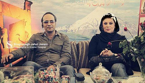 شهرام شکوهی و همسرش /عکس