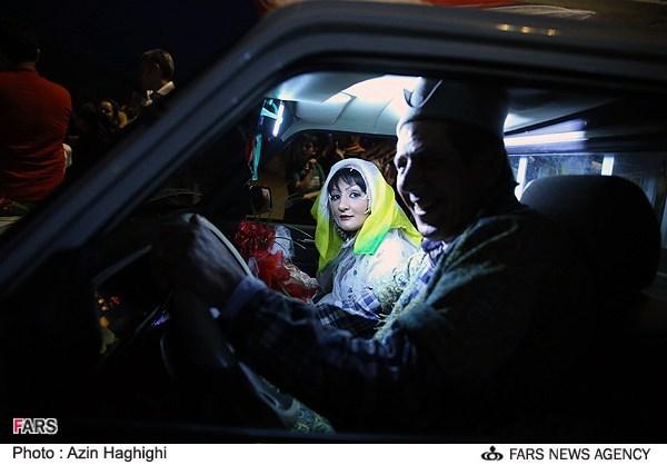 تصاویری از جشن عروسی عروس و داماد کارتن خواب
