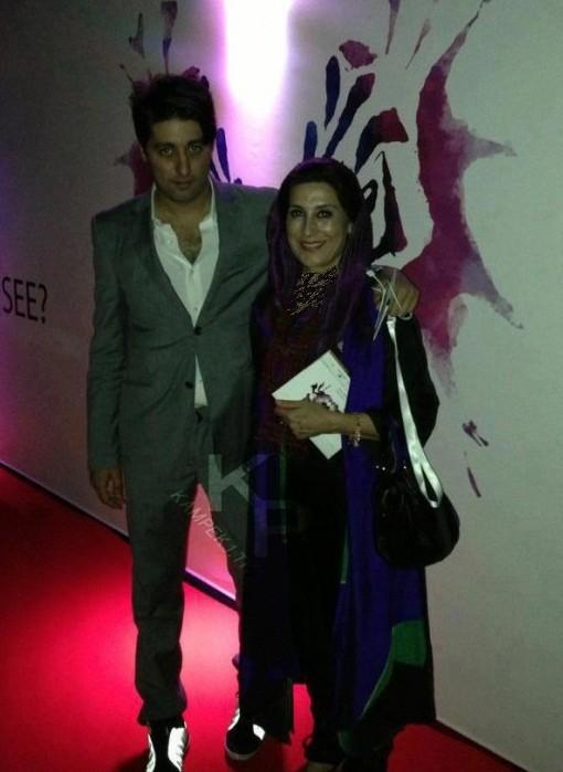 فاطمه معتمد آریا در کنار پسرش +عکس