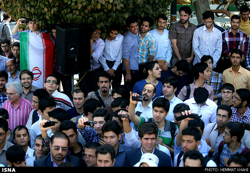 ازدواج ساده در دانشگاه تهران +تصاویر