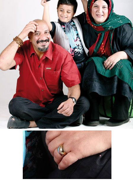 حلقه ازدواج هنرمندان چه شکلی است؟ /عکس