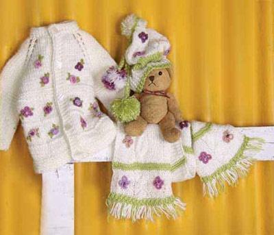 آموزش بافت ژاکت، شال و کلاه برای نوزاد