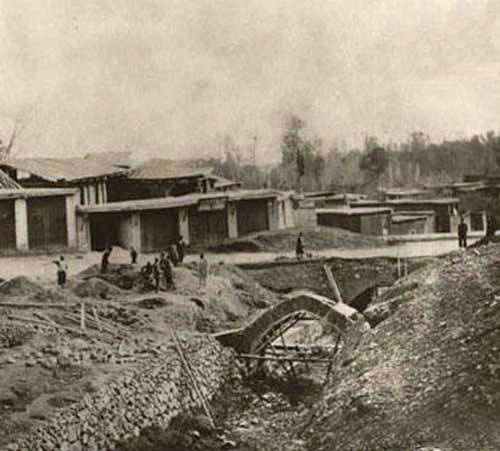 میدان تجریش در سال 1921 /عکس
