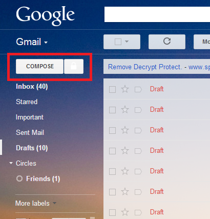 جی میل خود را رمز گذاری کنید