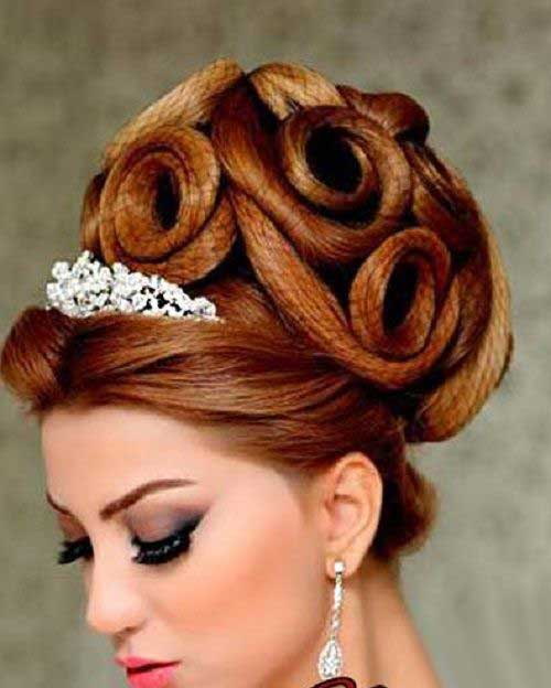 شیکترین و جذابترین مدل مو های عروس 2015