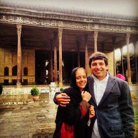 عکسی جدید از حمید گودرزی و همسرش