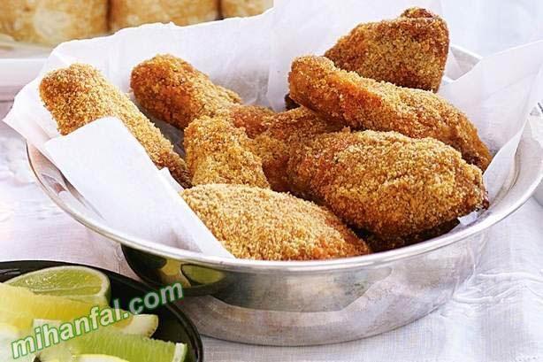 طرز تهیه بال مرغ سوخاری