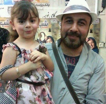 رضا عطاران به همراه دخترش /عکس