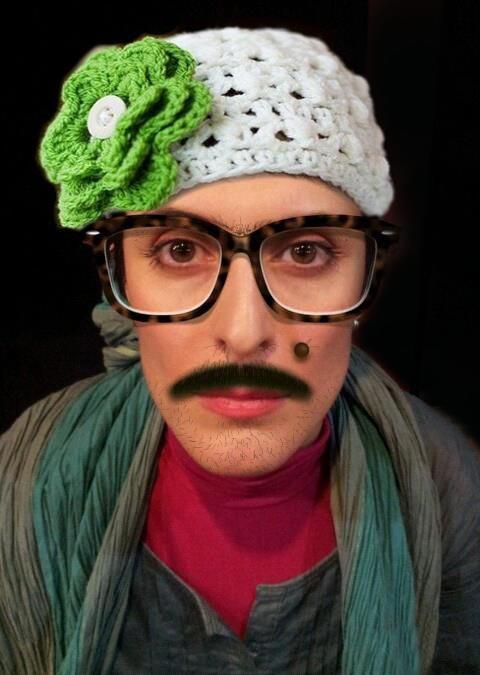 عکسی جالب از بازیگر زن ایرانی با سبیل!