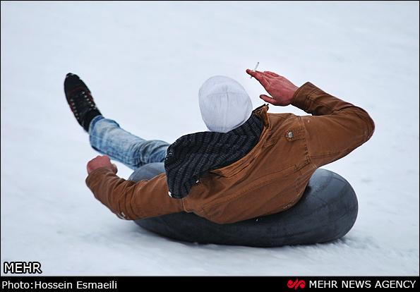 برف بازی در ارتفاعات آبعلی /تصاویر