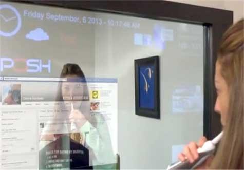 آینه لمسی مجهز به وایفای و تصویر! +عکس