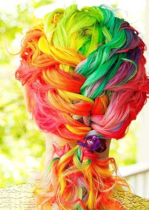 مدل های زیبای رنگ موی فانتزی
