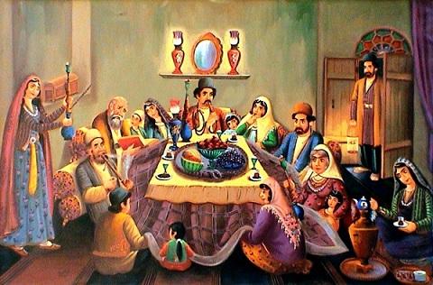 آداب و رسوم مردم تهران قدیم در شب یلدا