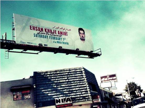 بیلبورد کنسرت احسان خواجه امیری در لوس انجلس /عکس