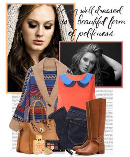 مدل های ست کردن لباس زمستانی به سبک Adele