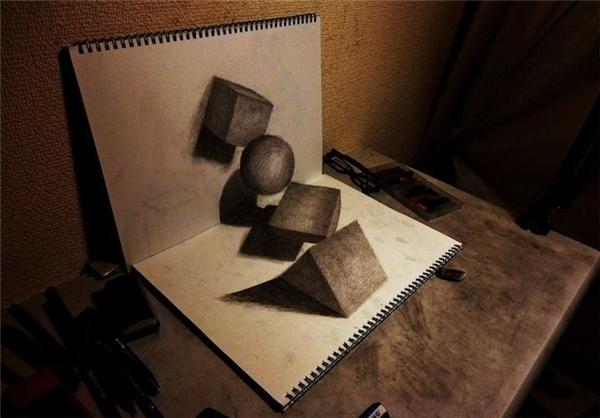 نقاشی های فوق العاده زیبای سه بعدی /تصاویر