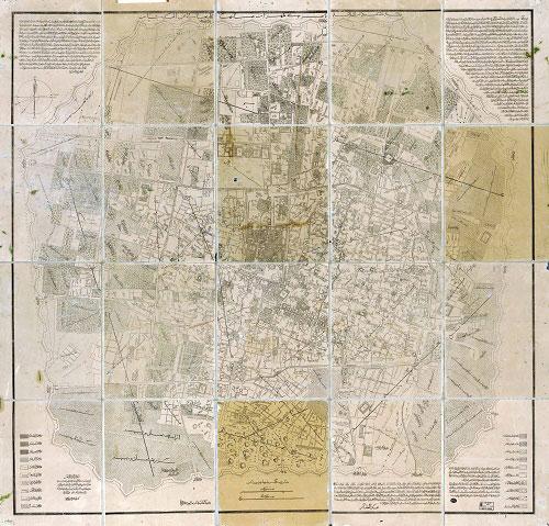 نقشههای تهران در عهد قاجار +تصاویر