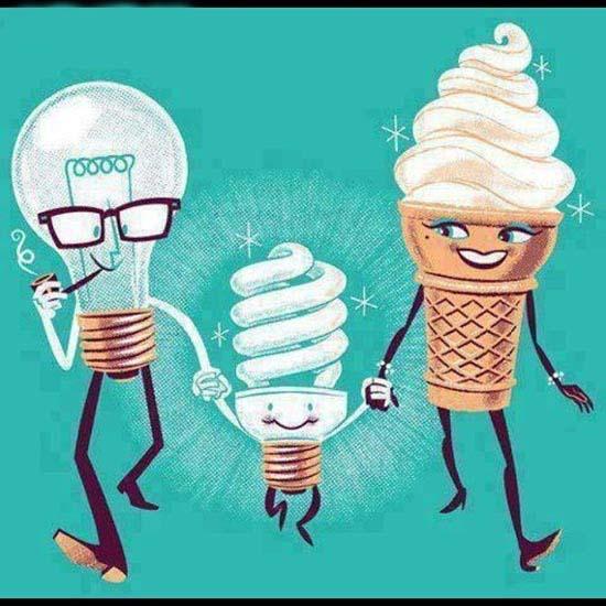محصول ازدواج لامپ و بستنی! /عکس