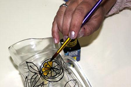 آموزش تصویری هنر ویترای روی ظروف