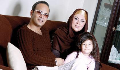 شهرام شکوهی در کنار همسر و دخترش ملودی /عکس