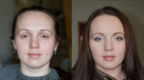 قبل و بعد از آرایش عروس /تصاویر