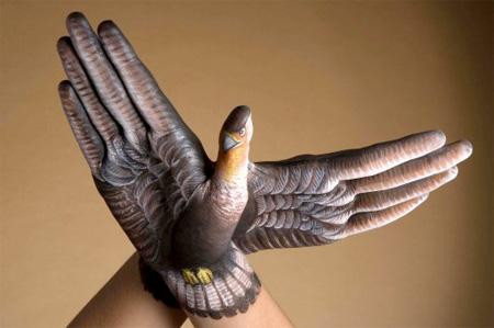 نقاشی های فوق العاده زیبا و دیدنی روی دست /تصاویر