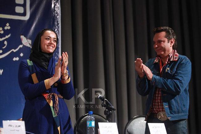 الهام چرخنده و همسرش فرشید نوابی /تصاویر
