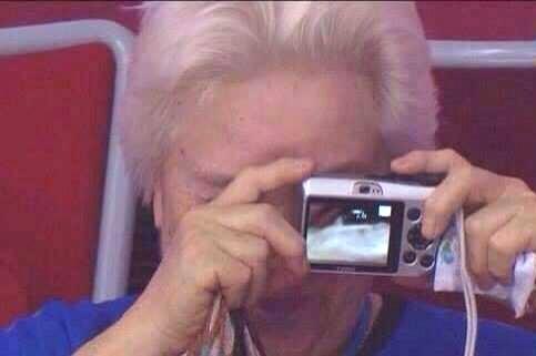 پیرزنی که سوژه المپیک شد /عکس