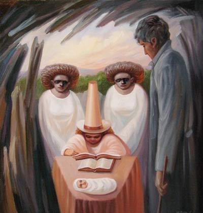 نقاشی های زیبای چهره در چهره
