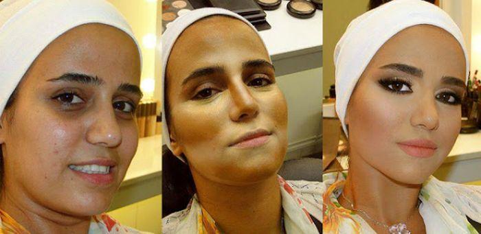 قبل و بعد از آرایش زنان روسیه