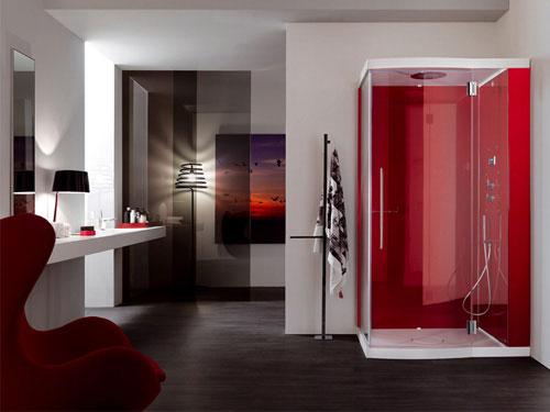 دکوراسیون سرویس بهداشتی با رنگ قرمز