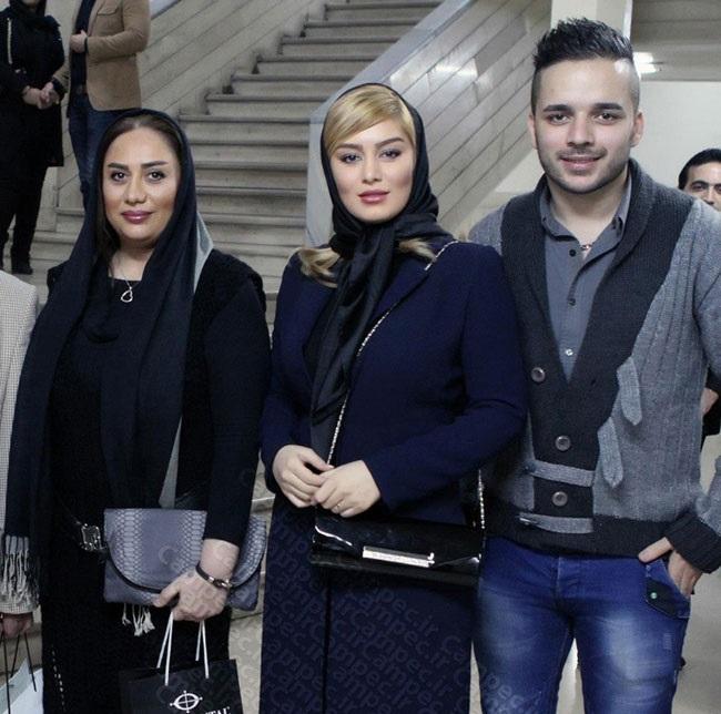 سحر قریشی در کنار مادر و برادرش /عکس