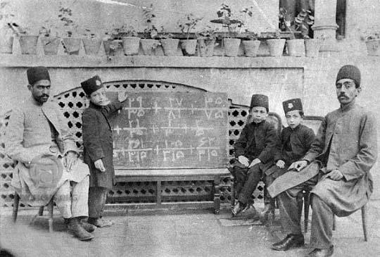 کلاس ریاضی در دوره قاجار /عکس