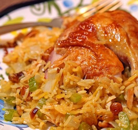 طرز تهیه کشمش پلو با مرغ