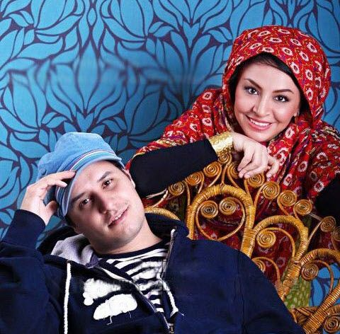جواد عزتی و همسرش مه لقا باقری /عکس