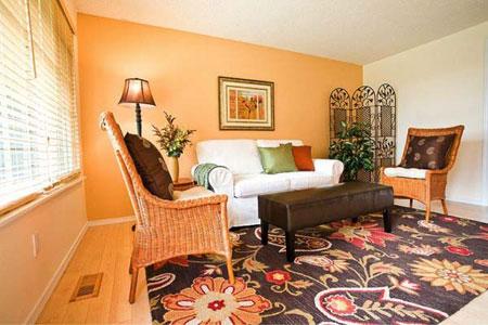 مدل های زیبای دکوراسیون منزل با تم نارنجی
