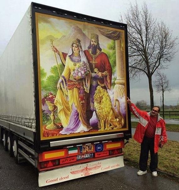 اقدام جالب مرد ایرانی در اروپا +عکس