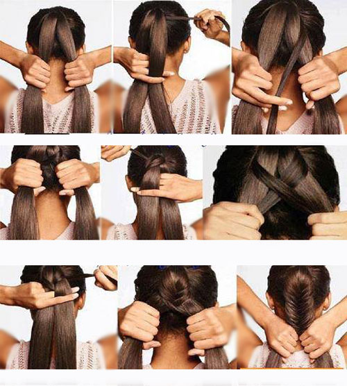 اموزش اسان و رایگان بستن مو در خانه