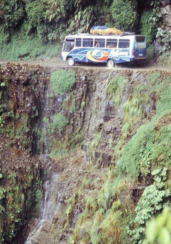 عکس هایی از جاده مرگ /خطرناکترین جاده دنیا