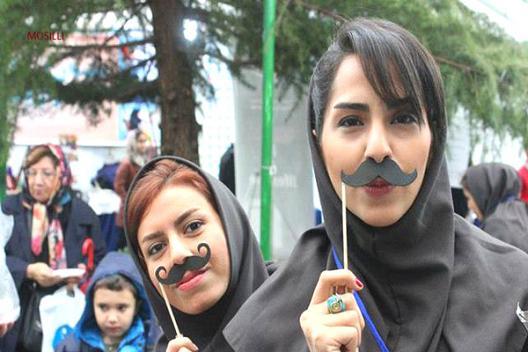 مسابقه سبیل در تهران +تصاویر