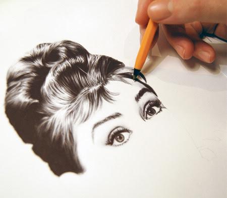نقاشی های زیبا با خودکار +تصاویر