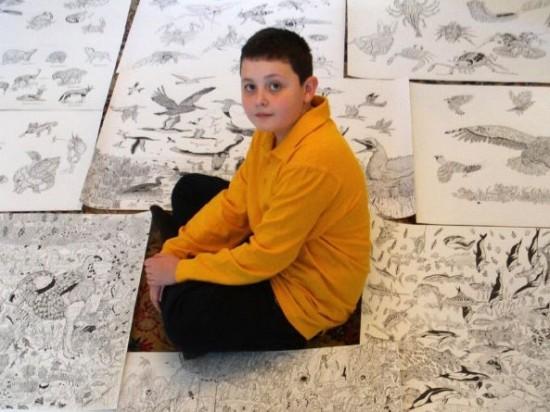 نقاشی های خارق العاده نوجوان 11 ساله +تصاویر