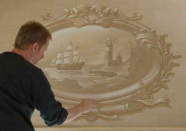 نقاشی های زیبا روی دیوار /تصاویر