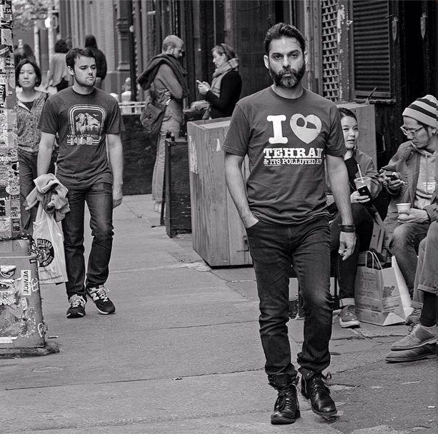 پیمان معادی با لباسی متفاوت در نیویورک /عکس
