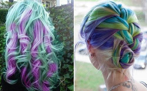 مدلهای فانتزی رنگ موی دخترانه
