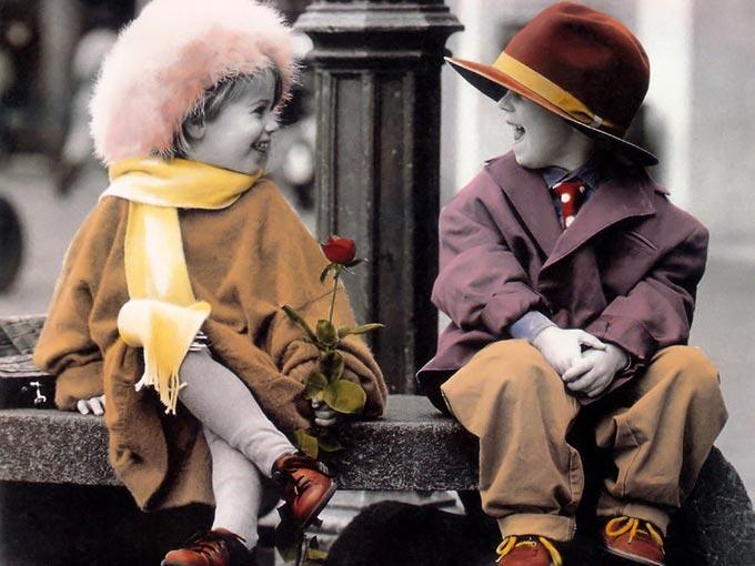تصاویر عاشقانه از کودکان